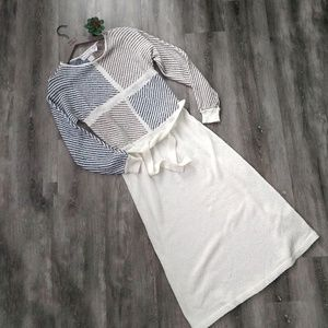 Vintage Brandini Knits Cream Sweater Dress